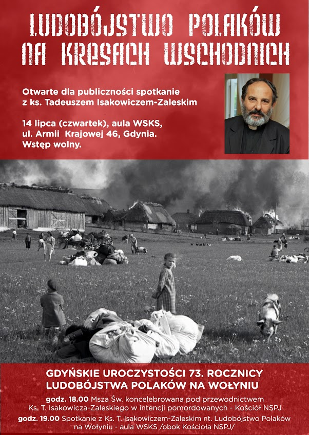 73. Rocznica ludobójstwa na Wołyniu w Gdyni