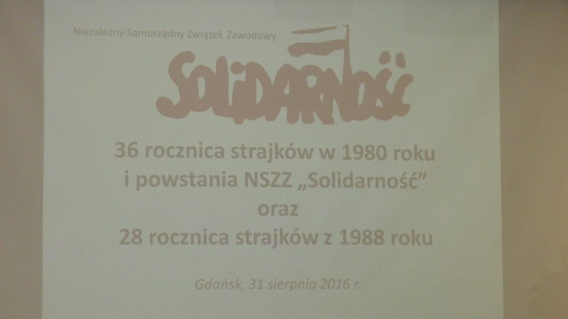 Obchody rocznic sierpnia w Gdańsku