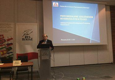 """22 listopada 2016 r. - Konferencja """"Przeciwdziałanie uzależnieniom behawioralnym w Polsce"""""""