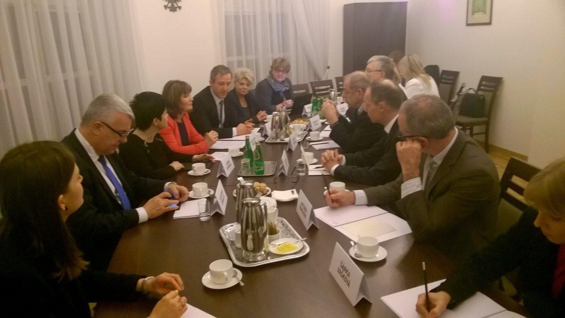 Spotkanie z delegacją Komisji Polityki Społecznej Izby Poselskiej Parlamentu Republiki Czeskiej.