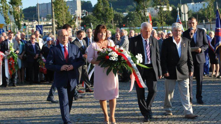 Obchody 37 rocznicy strajków oraz podpisania Porozumień Sierpniowych  w Gdyni
