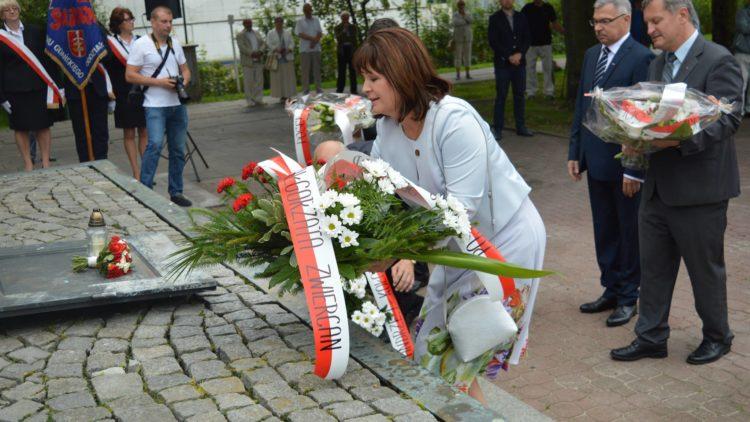 Uroczystości sierpniowe pod Pomnikiem Ofiar Grudnia 1970