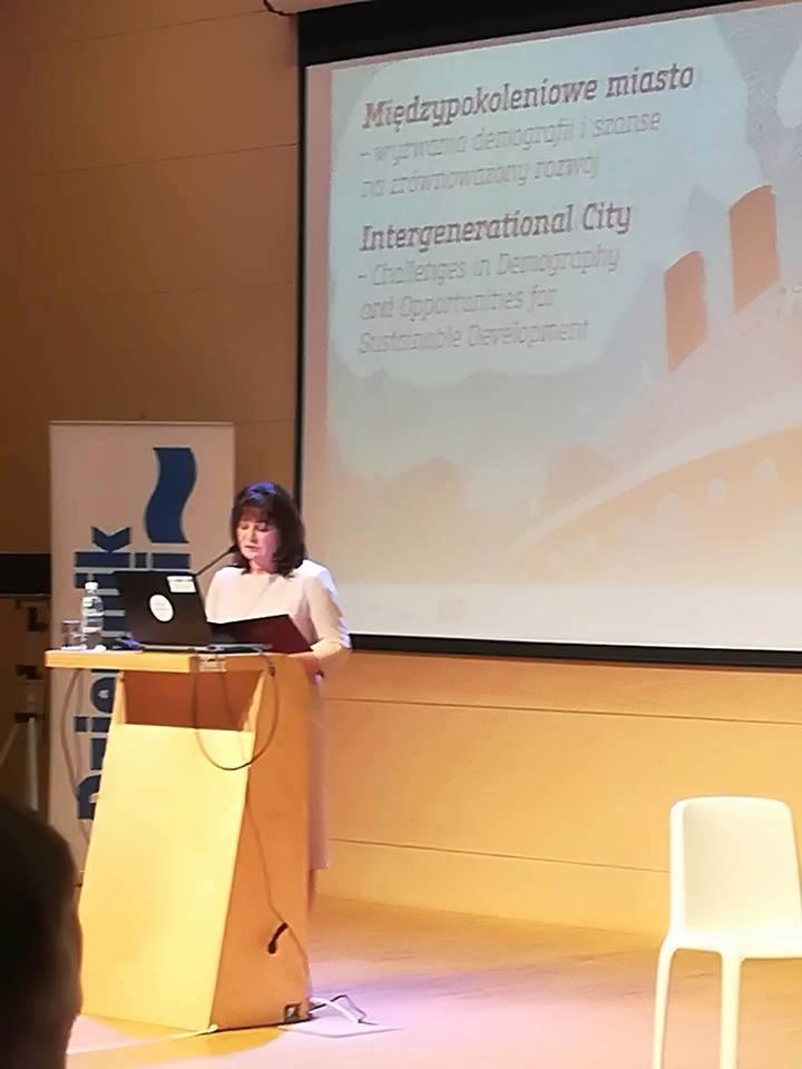 Konferencja Międzypokoleniowe miasto – wyzwania demografii i szanse na zrównoważony rozwój.
