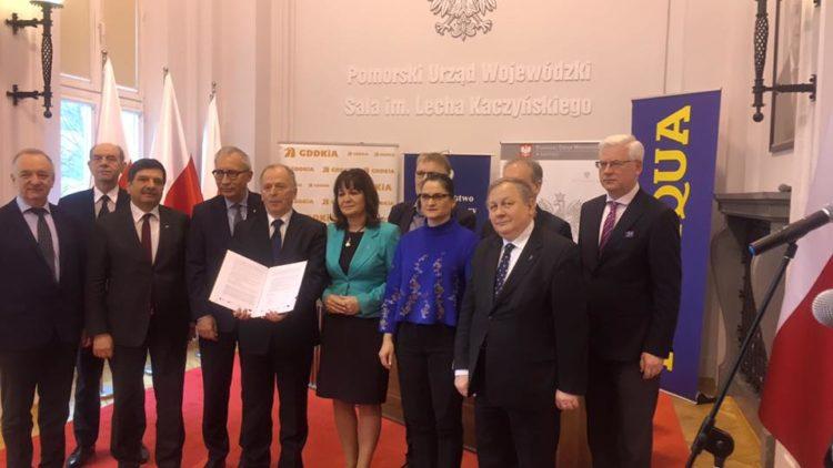 Podpisanie umowy na budowę 20 km drogi ekspresowej S6 Szemud – Gdynia