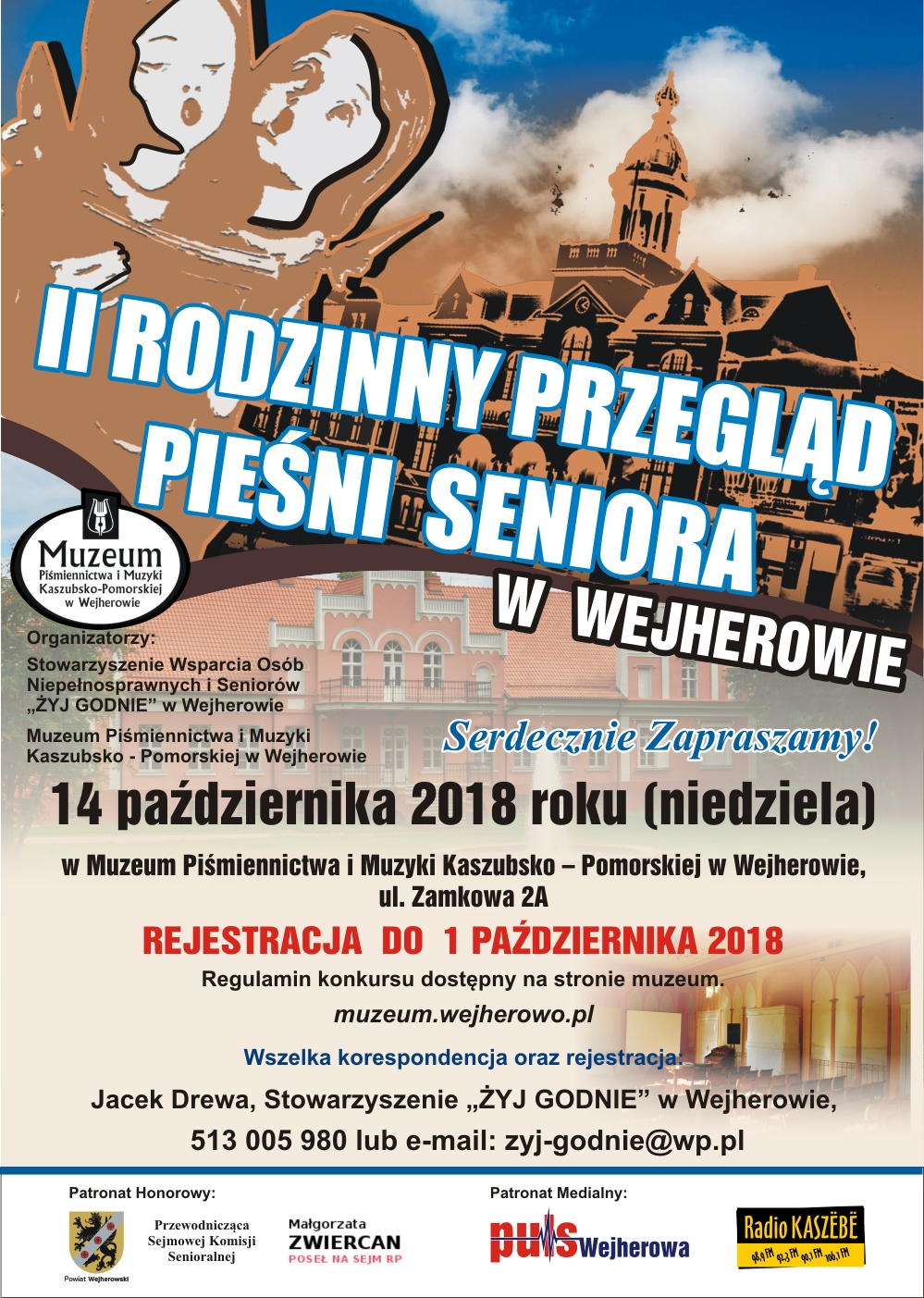Zaproszenie na II Rodzinny Przegląd Pieśni Seniora