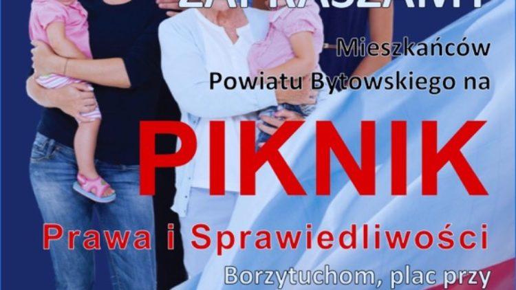 Piknik PiS w miejscowości Borzytuchom