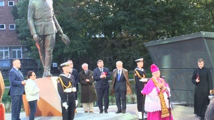 Odsłonięcie pomnika rotmistrza Witolda Pileckiego w Gdańsku