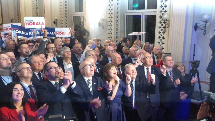 Wieczór wyborczy Prawa i Sprawiedliwości w Gdańsku